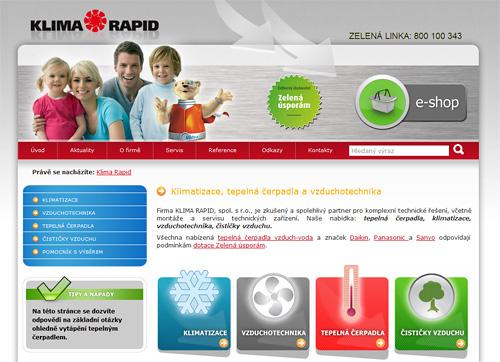 Screen Klimarapid.cz
