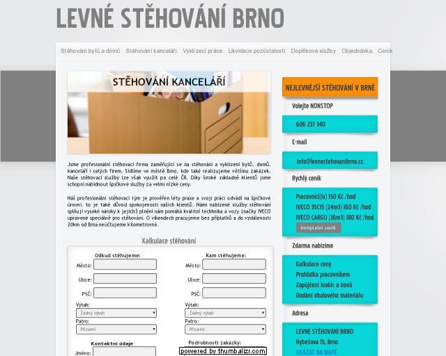Levné stěhování Brno