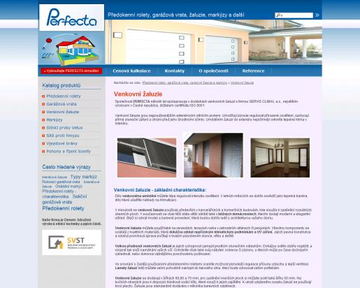 Screen www.rolety-vrata-zaluzie.cz - žaluzie a předokenní rolety