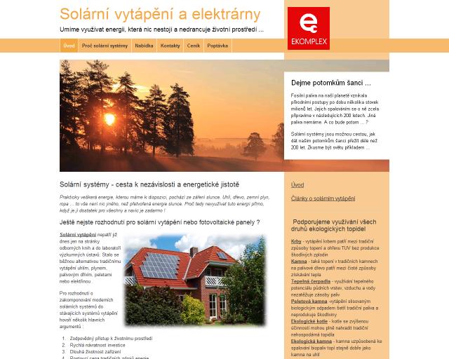 Úvodní stránka www.solarni-vytapeni.eu