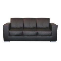 Černá kožená sedací souprava