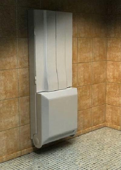 Složená sprcha, úspora místa